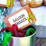 Cowboy party Ideas Food Labels