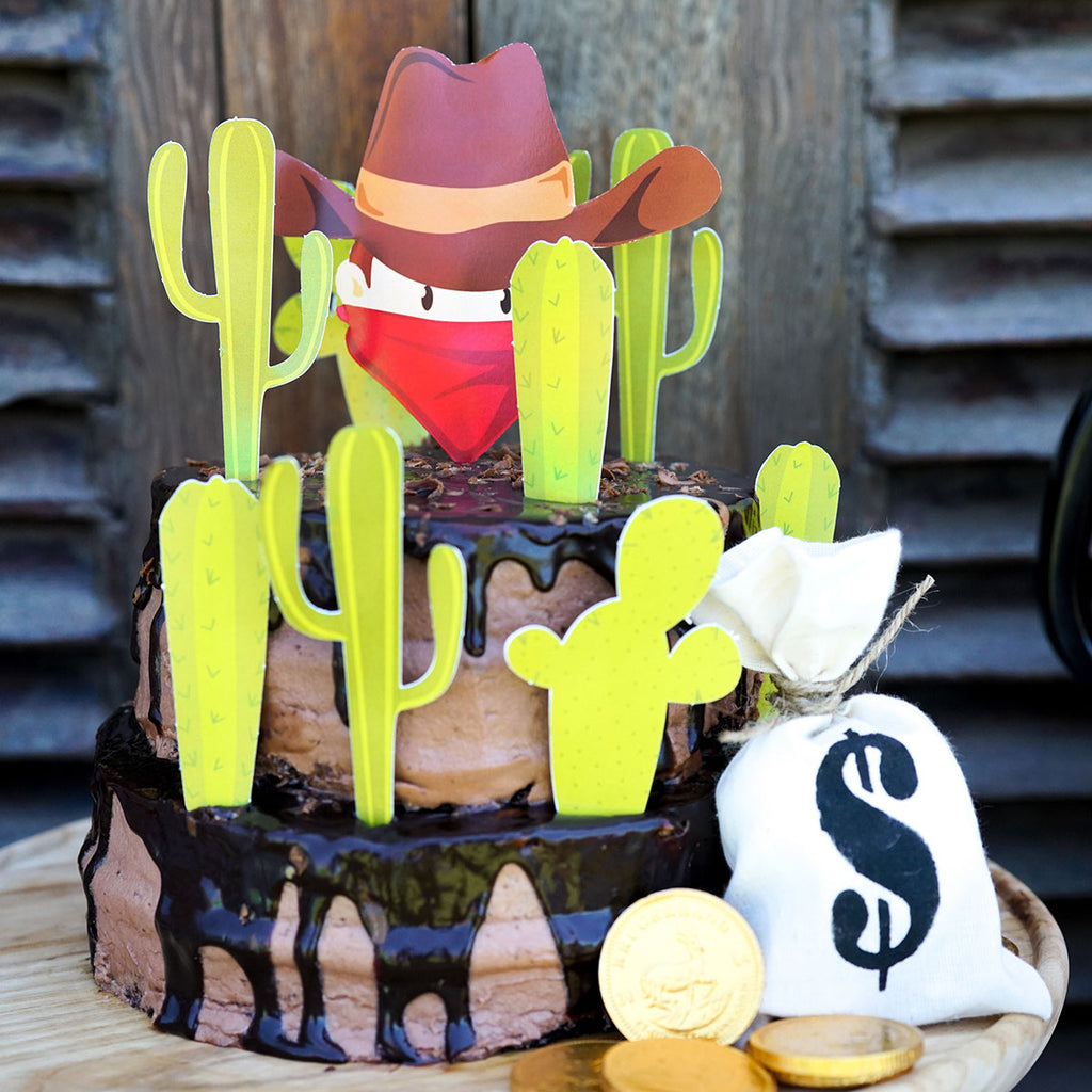How it Works Cowboy Birthday Cake Toppers