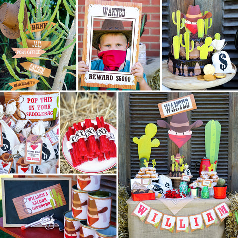 Swell Cowboy Birthday Cake Toppers Cowboy And Cactus Party Decor Funny Birthday Cards Online Necthendildamsfinfo