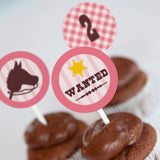 Cowgirl Birthday Party Cupcake Toppers