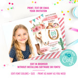Cowgirl Birthday Photo Invitation