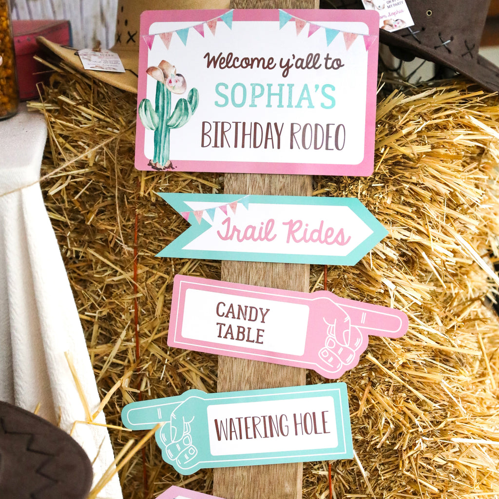 Cowgirl Party Signs