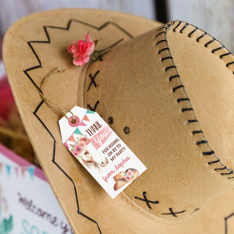 Cowgirl Birthday Party Favor