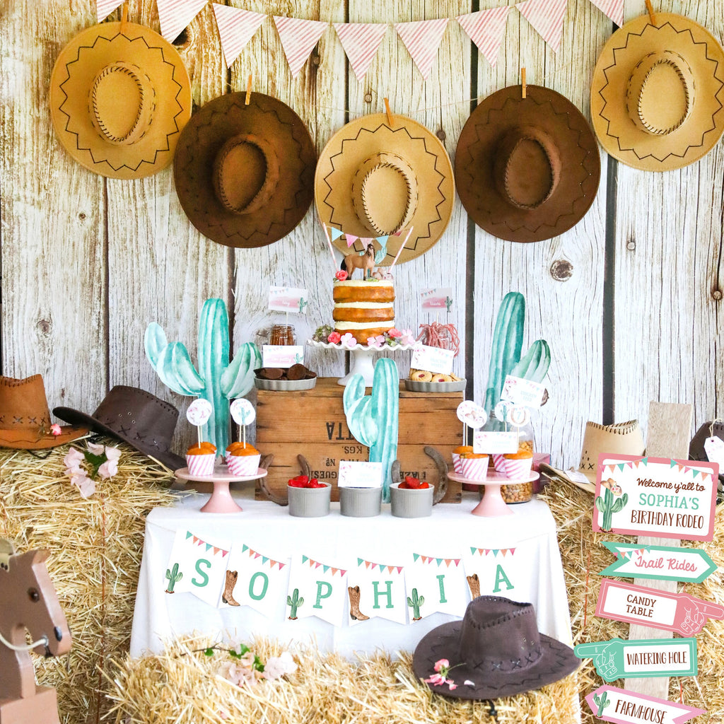 Cowgirl Party Dessert Table
