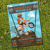 Dirt Bike Motocross Invitation