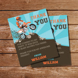 Dirt Bike Party Thank-you cards