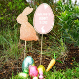 Easter Egg Hunt Gold Glitter Bunny and Sign Printables