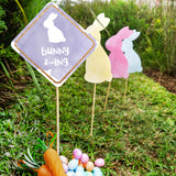 Easter Egg Hunt Bunny X-ing Sign