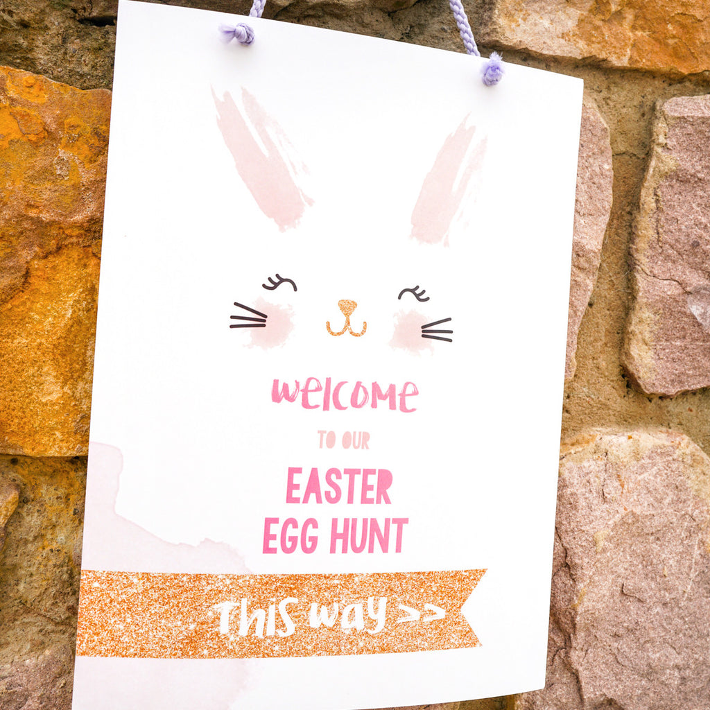 Easter Egg Hunt Welcome Sign