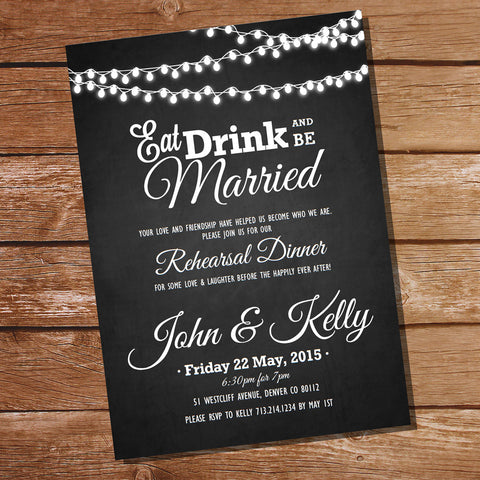 Chalkboard Couples Shower Invitation
