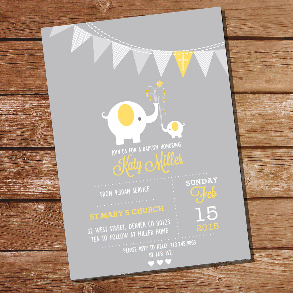 First Communion / Baptism / Christening Invitation for Girls or Boys