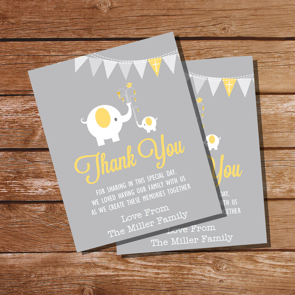 First Communion / Baptism / Christening Thank You Card for Girls or Boys