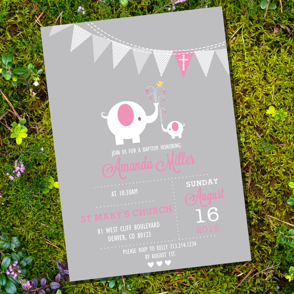 First Communion / Baptism / Christening Invitation for Girls