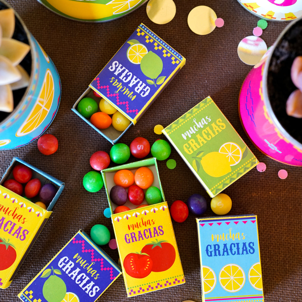 Fiesta Matchbox Favors | Mexican Fiesta Party Favors