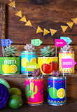 Fiesta Tin Can Wrappers Party Favors