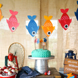 Fishing Party Garland - Fish on a Rope Party Banner