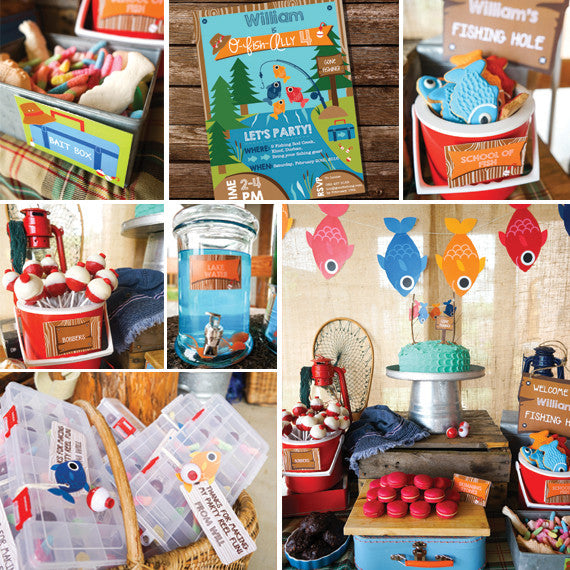 Fishing Party Decorations and Invitation - Full Printable Set
