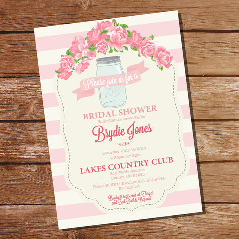 Shabby Chic Floral Bridal Shower Invitation