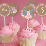 Flower Fairy Party Cupcake Toppers | Woodland Fairy Toppers