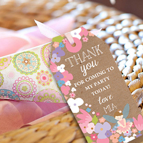 Flower Fairy Party Favors | Woodland Fairy Favor Tags