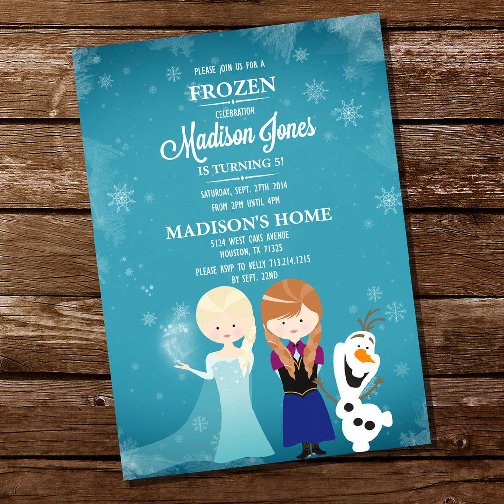 Frozen Inspired Invitation for a Girl Birthday Party | Frozen Party