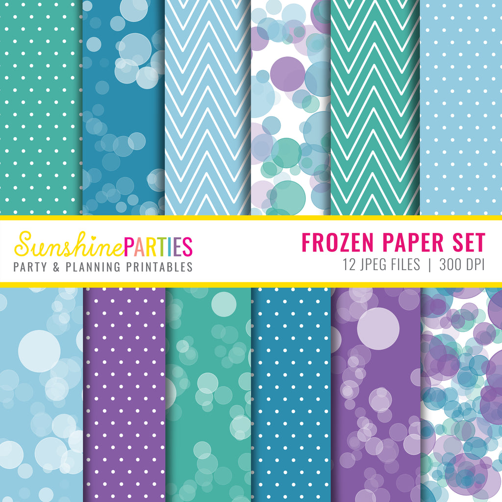 Frozen Inspired Digital Paper Set