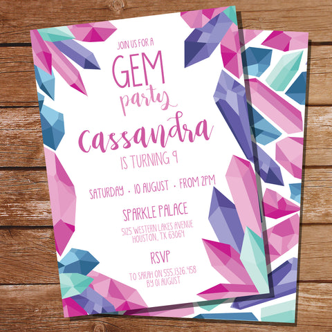 Gem Party Invitation