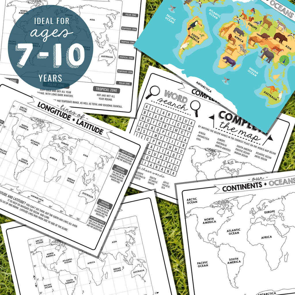 Kids Geography Activity Sheets