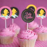 Rubber Duck Baby Shower Cupcake Toppers For A Girl
