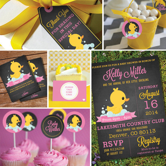 Rubber Duck Baby Shower Decorations For A Girl