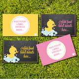 Rubber Duck Baby Shower Food Labels