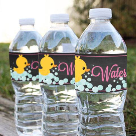 Rubber Duck Water Bottle Labels
