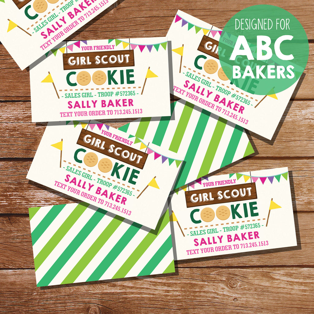 Girl Scout Cookie Seller Business Cards