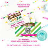 Girl Scout Cookie Seller Business Cards QR Code