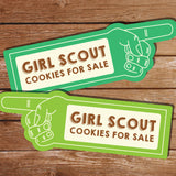 Girl Scout Cookies For Sale Sign
