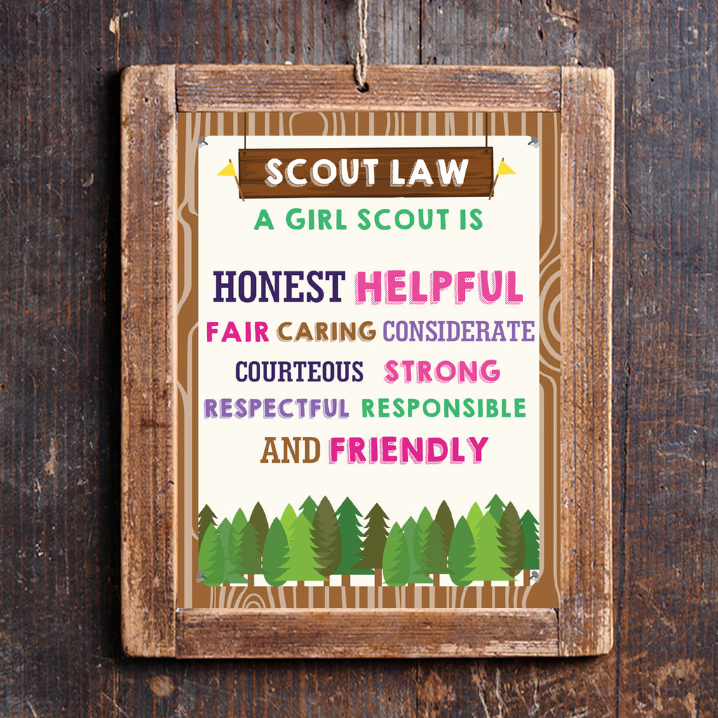 Girl Scout Law Poster