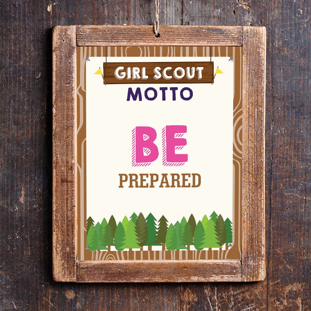 Girl Scout Motto Poster