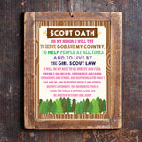 Girl Scout Oath Poster