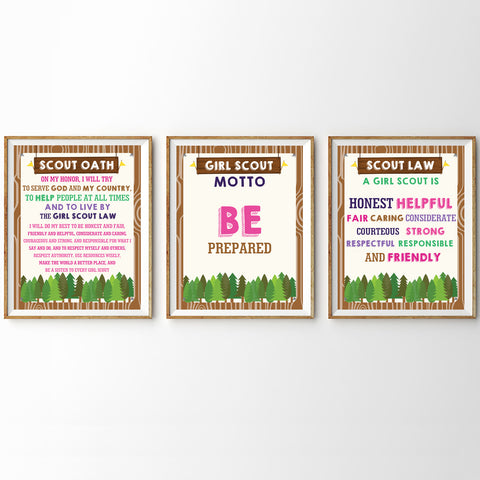 Girl Scout Poster Set