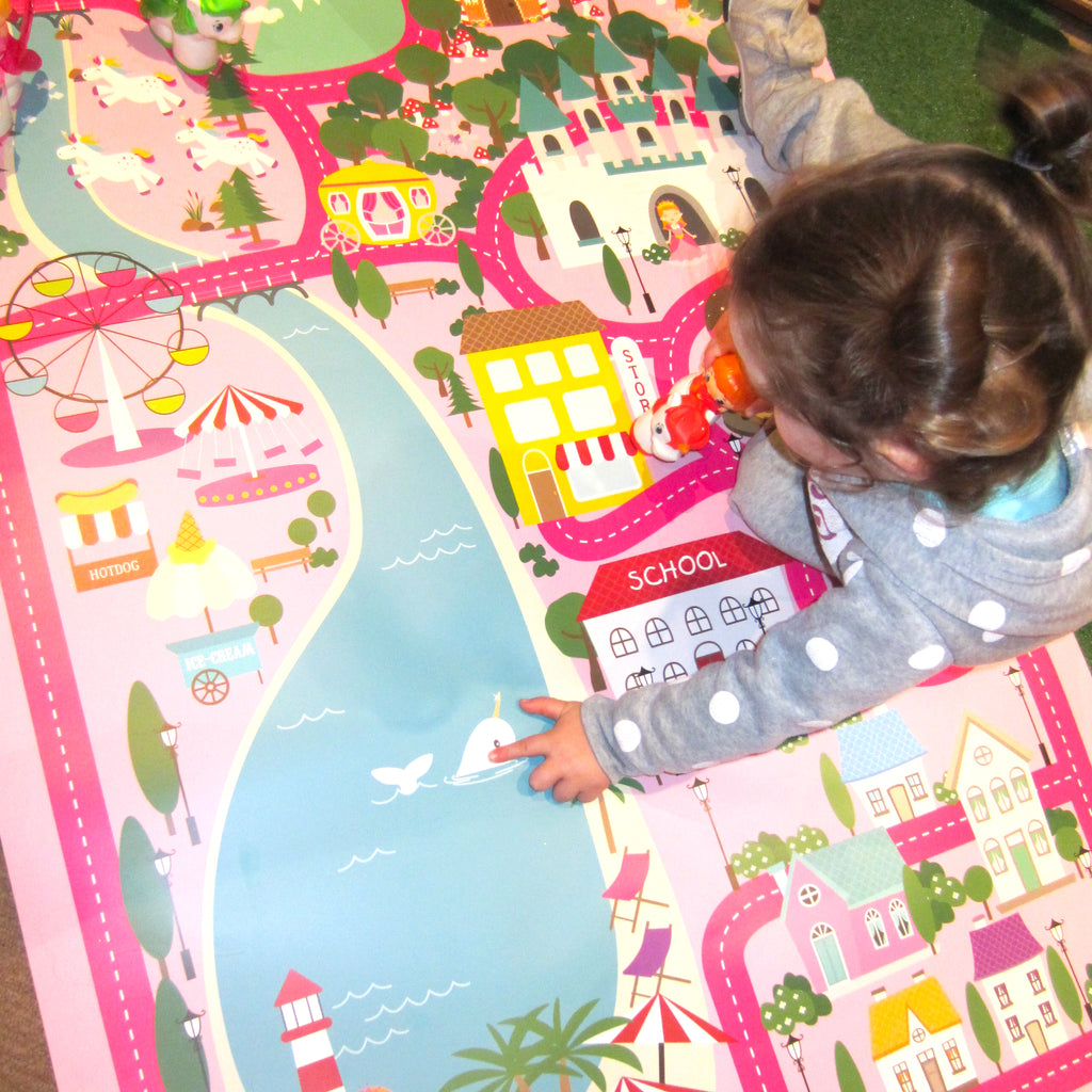 Girls Activity Mat Game | Village Activity Mat for Playtime
