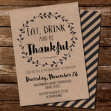 Kraft Thanksgiving Invitation