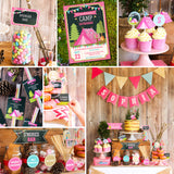 Pink and pretty glamping party