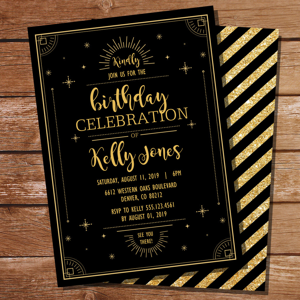 Glitz and Glam Party Invitation