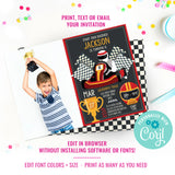 Go-Kart Birthday Party Photo Invitation