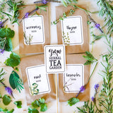 Mothers Day Herbal Tea Garden Labels