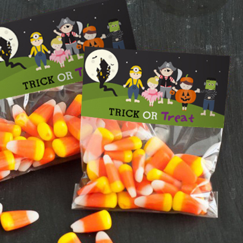 Halloween Costume Party Treat Bag Toppers | Kids Halloween Party Favors