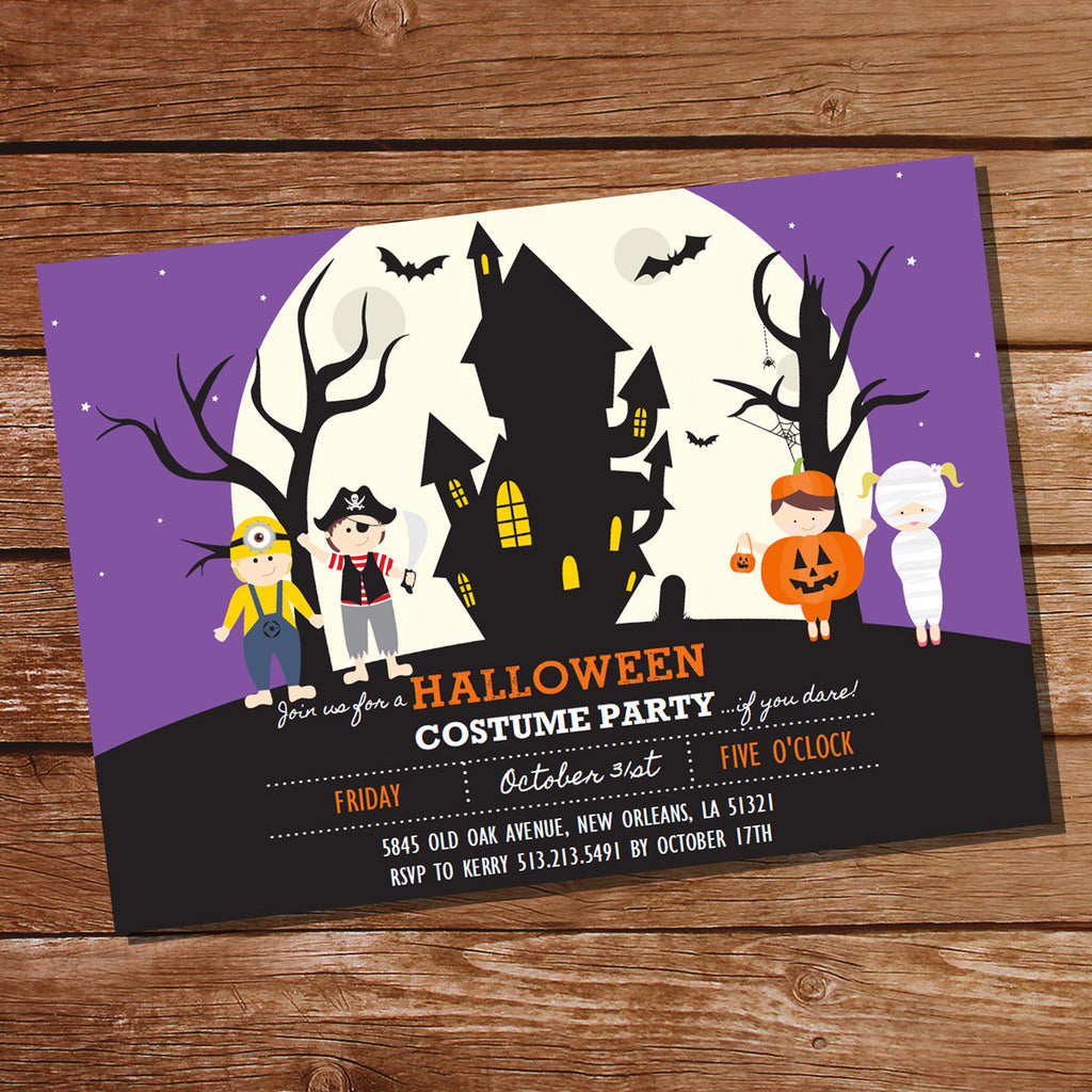 Halloween Costume Party Invitation | Haunted House Party | Trick Or Treat