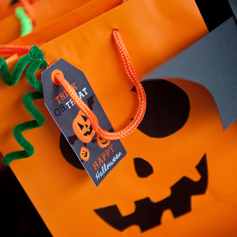Halloween Pumpkin Party Favor Tags | Halloween Party Favors