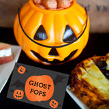 Halloween Pumpkin Party Food Label Tent Cards