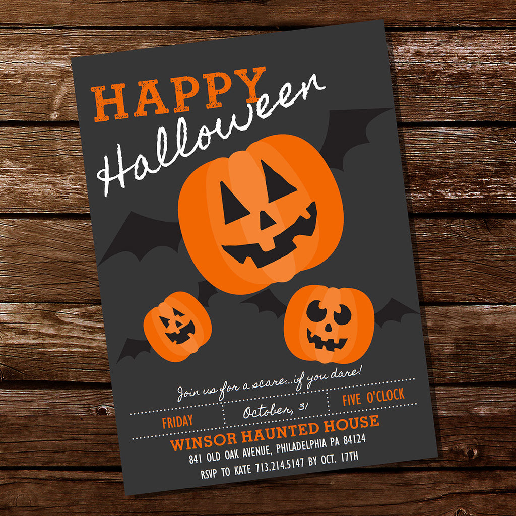 Halloween Pumpkin Party Invitation | Pumpkin Carving Party